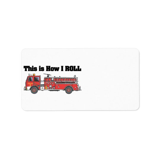 How I Roll (Fire Engine/Truck) Address Label