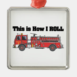 How I Roll (Fire Engine/Truck) Christmas Ornament