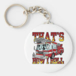 How I Roll Fire Truck Keychains