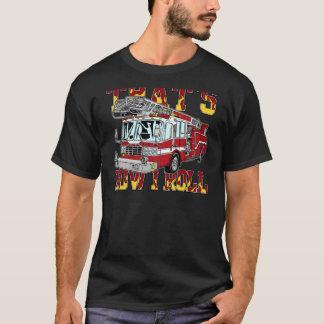 How I Roll Fire Truck T-Shirt