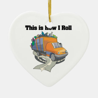 How I Roll (Garbage Truck) Christmas Ornament