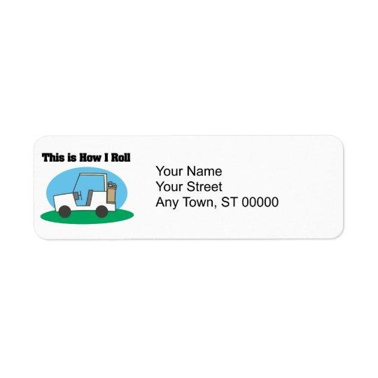 How I Roll (Golf Cart) Return Address Label
