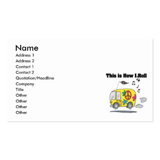 How I Roll (Hippie Van) Business Card Templates