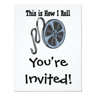How I Roll Movie Film Tape 11 Cm X 14 Cm Invitation Card
