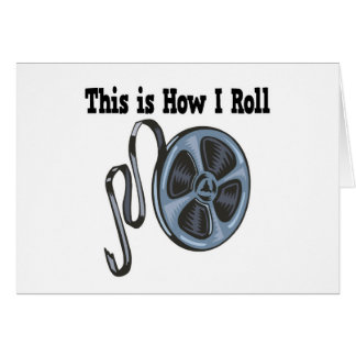 How I Roll Movie Film Tape Card