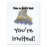 How I Roll (Roller Blades/Inline Skates) Personalised Invite
