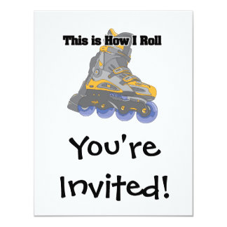 How I Roll (Roller Blades/Inline Skates) Personalized Announcement