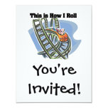 How I Roll (Roller Coaster) 11 Cm X 14 Cm Invitation Card
