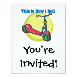 How I Roll (Scooter) 11 Cm X 14 Cm Invitation Card