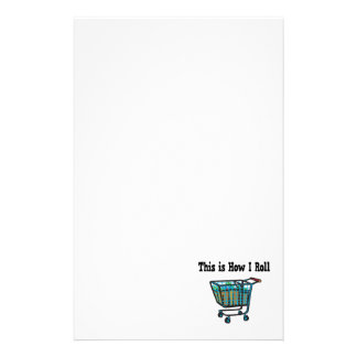 How I Roll Shopping Cart Stationery Paper