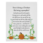 How is being a Christian like being a Pumpkin? Poster
