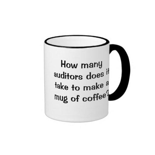 How Many Auditors? - Short Funny Auditing Joke Mugs