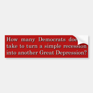 How Many Democrats Does it Take Bumper Stickers