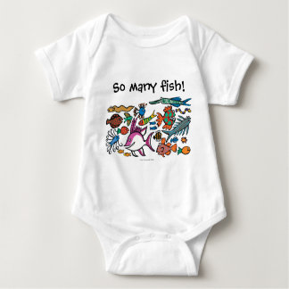 How Many Different Fish Can You See? Baby Bodysuit