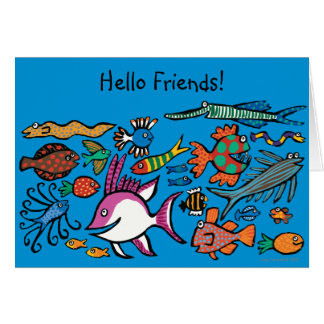 How Many Different Fish Can You See? Card