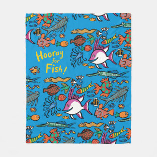 How Many Different Fish Can You See? Fleece Blanket