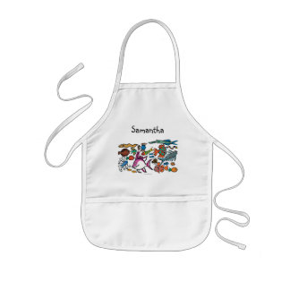 How Many Different Fish Can You See? Kids Apron