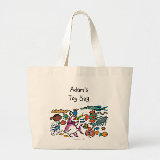 How Many Different Fish Can You See? Large Tote Bag