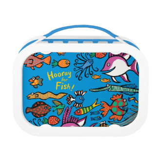 How Many Different Fish Can You See? Lunch Box