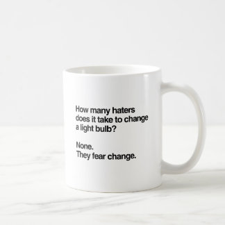 How many haters does it take to change a light bul basic white mug
