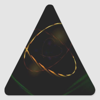 How Many Hearts Triangle Stickers