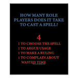 How Many Players to Cast a Spell Poster