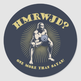How Many Reps? Round Sticker