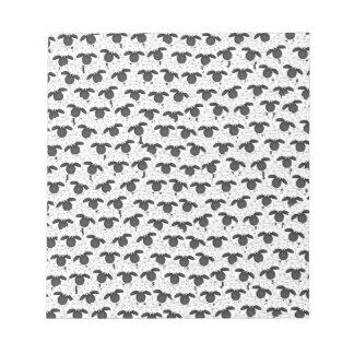 How many sheep? notepad