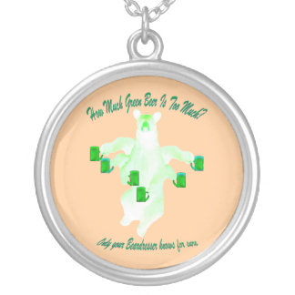 How Much Green Beer Is Too Much? Round Pendant Necklace