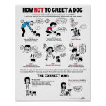 """How Not To Greet A Dog (11"""" x 14"""") Kid-Friendly Posters"""