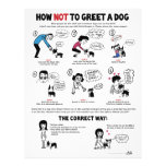 """How Not To Greet A Dog - 8.5"""" x 11"""" flyers"""