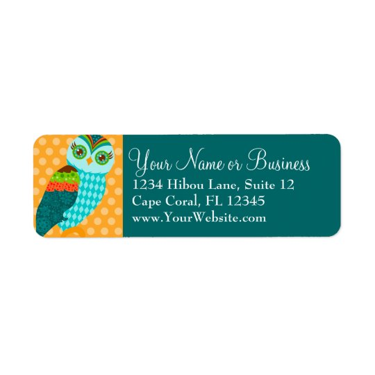 How Now Blue Owl? Return Address Label