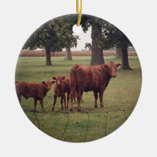 How Now Brown Cow Christmas Ornament
