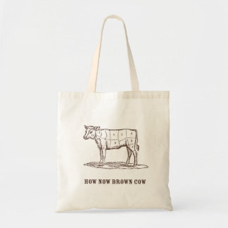 How Now Brown Cow Tote Bags