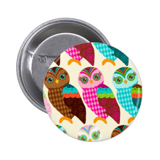 How Now Little Owls? 6 Cm Round Badge