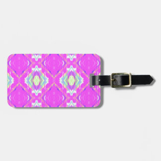 How Pink Girly Pattern Luggage Tag