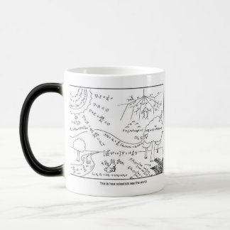 How scientists see the world [RIGHT HANDED] Magic Mug