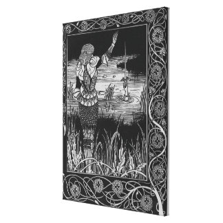 How Sir Bedivere Cast the Sword Excalibur Gallery Wrapped Canvas