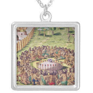 How the Chief is Buried, from 'Brevis Silver Plated Necklace