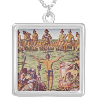 How the inhabitants of Florida made decisions Silver Plated Necklace