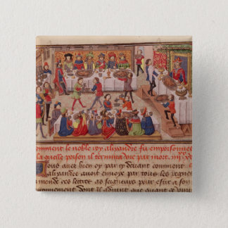 How the Noble King Alexander was Poisoned 15 Cm Square Badge