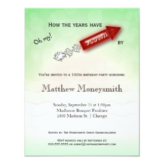How The Years Have Flown By - Milestone Birthday 11 Cm X 14 Cm Invitation Card