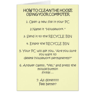 How to Clean Your House Using the Computer