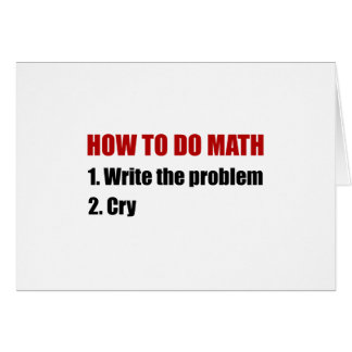 How To Do Math Note Card