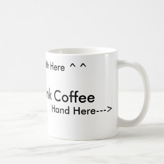 How to drink coffee for right handed people basic white mug