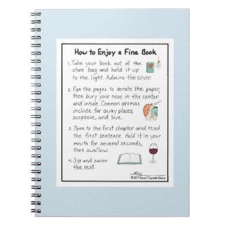 How to Enjoy a Fine Book Light Blue Notebook