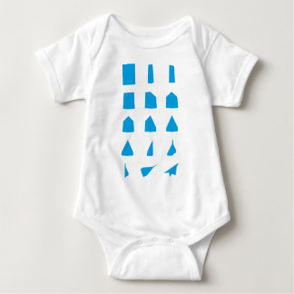How to fold a Paper Aeroplane Instructions Baby Bodysuit