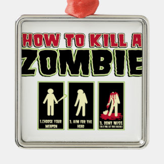 How to Kill a Zombie Christmas Ornament