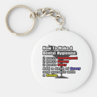 How To Make a Dental Hygienist Basic Round Button Key Ring