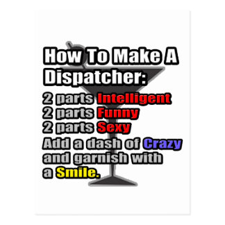 How To Make a Dispatcher .. Funny Postcard